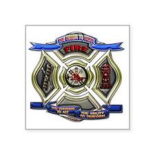 "Fire Department Chrest copy Square Sticker 3"" x 3"""