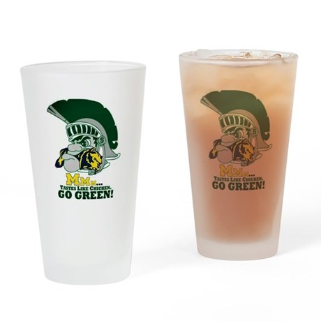 sparty is hungry Drinking Glass