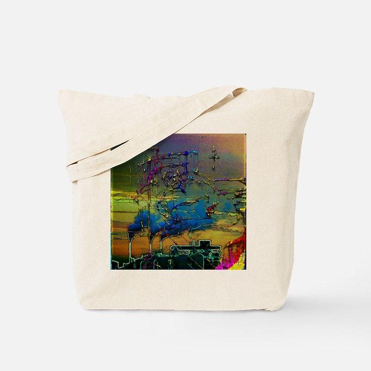 Bed Ridden Man Smoke Stack Edit Tote Bag