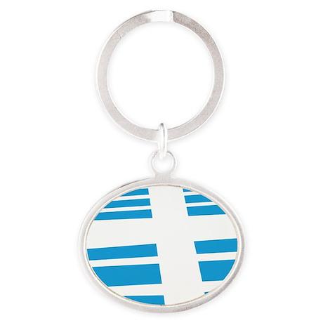 wwgcircle_logo_huge Oval Keychain