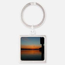 calendar chesapeake sunrise Square Keychain