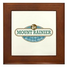 Mount Rainier National Park Framed Tile