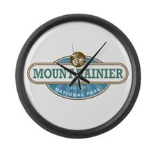 Mount Rainier National Park Large Wall Clock