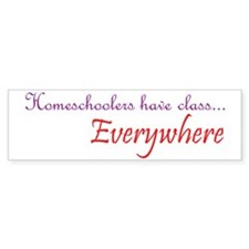 have class1 purple and red Bumper Sticker