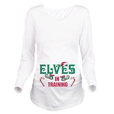 ELVES IN TRAINING Long Sleeve Maternity T-Shirt