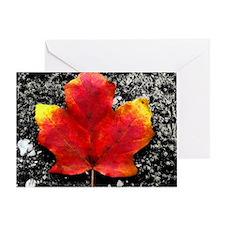 calendar fallen leaf Greeting Card