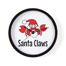 Santa Claws Wall Clock