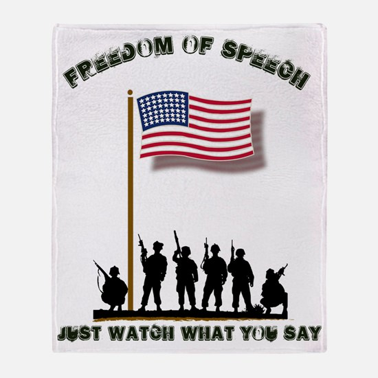 Freedom of Speech Throw Blanket