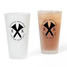 Yoshida Brothers logo White/black Drinking Glass