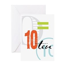 Anniversary Card: 10 Years Greeting Card