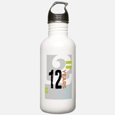 Anniversary Card: 12 Y Water Bottle