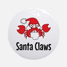 Santa Claws Ornament (Round)