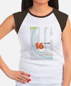 Anniversary Card: 16 Ye Women's Cap Sleeve T-Shirt