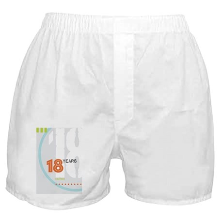 Anniversary Card: 18 Years Boxer Shorts
