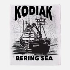 kodiak_bering_bw Throw Blanket