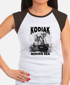 kodiak_bering_bw Women's Cap Sleeve T-Shirt
