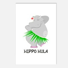 Hippo Hula Postcards (Package of 8)