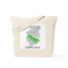 Hippo Hula Tote Bag
