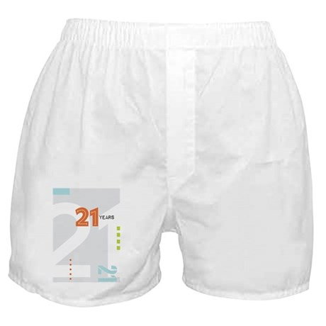 Anniversary Card: 21 Years Boxer Shorts