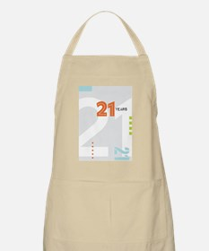 Anniversary Card: 21 Years Apron