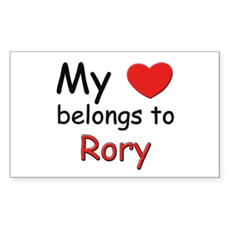 My heart belongs to rory Rectangle Sticker