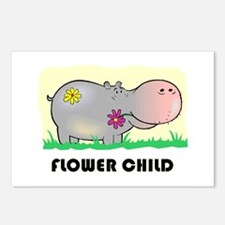 Hippo Flower Child Postcards (Package of 8)