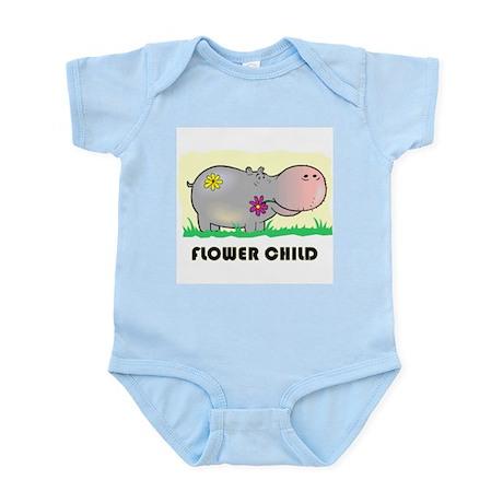 Hippo Flower Child Infant Bodysuit
