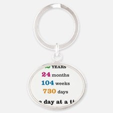 2 Years Oval Keychain