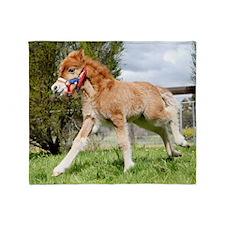 Orphaned Foal - Joy Throw Blanket