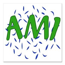 "AMI Square Car Magnet 3"" x 3"""