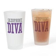 Saxophone DIVA Drinking Glass