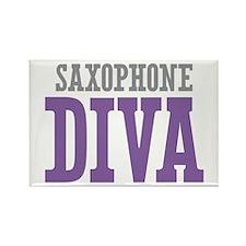 Saxophone DIVA Rectangle Magnet (10 pack)