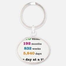16 Years Oval Keychain