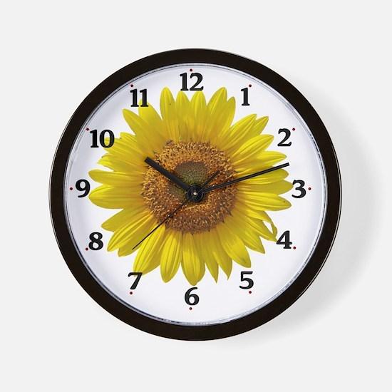 sunflowerclock Wall Clock