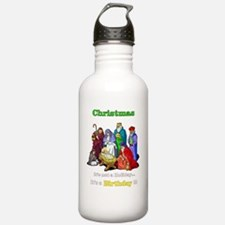 Christmas-its-a-birthd Water Bottle