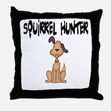 Squirrel Dog Throw Pillow