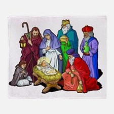 Christmas_nativity_scene Throw Blanket