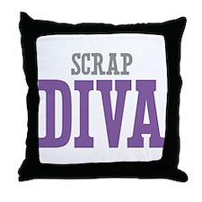 Scrap DIVA Throw Pillow