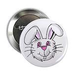 BUNNY RABBIT FACE Button
