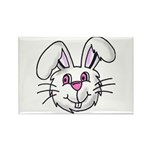 BUNNY RABBIT FACE Rectangle Magnet (10 pack)