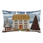 Christmas Cottage Pillow Case