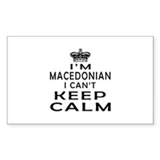 I Am Macedonian I Can Not Keep Calm Decal