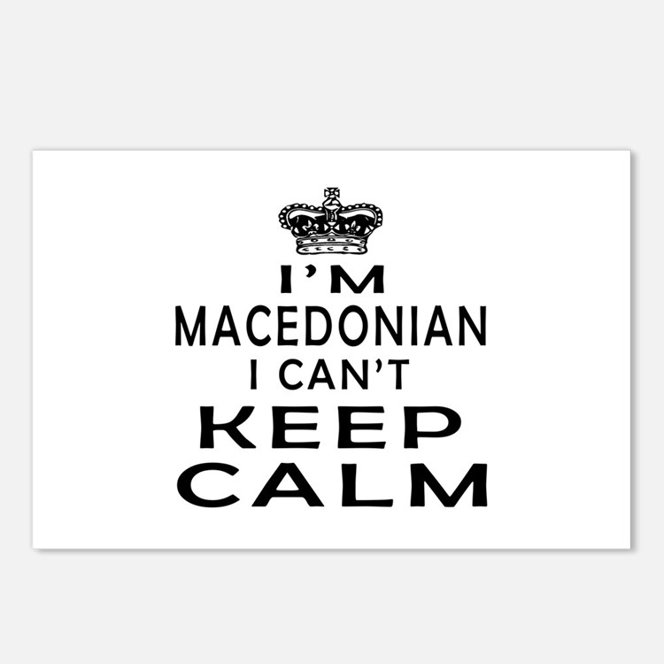 I Am Macedonian I Can Not Keep Calm Postcards (Pac