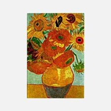 Van Gogh - Still Life Vase with T Rectangle Magnet