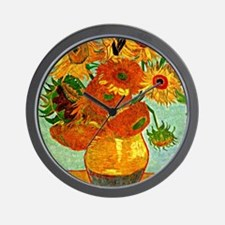 Van Gogh - Still Life Vase with Twelve  Wall Clock