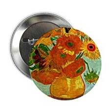 "Van Gogh - Still Life Vase with Twelv 2.25"" Button"
