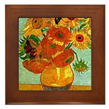 Van Gogh - Still Life Vase with Twelve Framed Tile