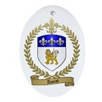 AMIOT Family Crest Oval Ornament