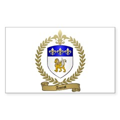 AMIOT Family Crest Rectangle Decal
