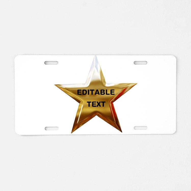 Superstar Aluminum License Plate
